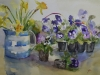 aquarel-Cornish-ware-and-violets-Joke-Klootwijk